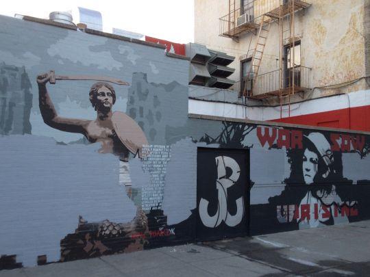 To Niemiec, Rosjanin i Żyd zniszczyli mural powstańców warszawskich