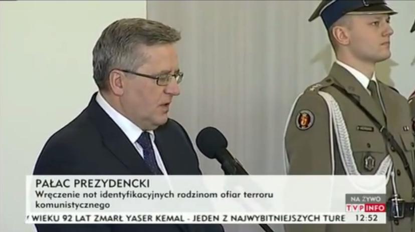 Prezydent: Ofiary czasów stalinowskich to ofiary Żołnierzy Wyklętych