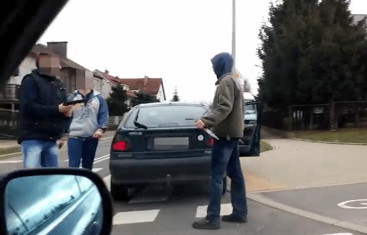 Gorzów: Bitwa na środku ulicy na nóż i pistolet. Policja w akcji (video)