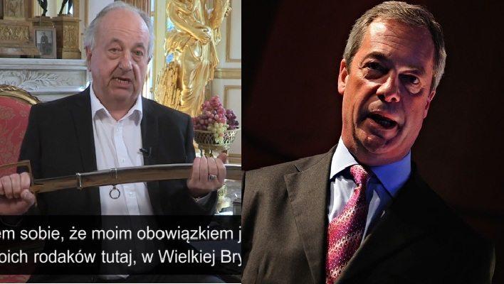 Nigel Farage odpowiedział polskiemu arystokracie ws. pojedynku