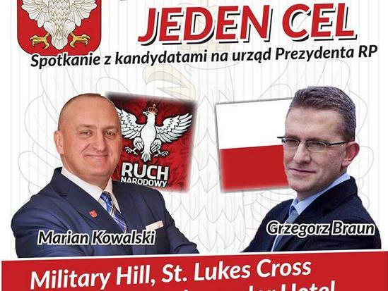 Lewicowcy zablokowali debatę Kowalskiego i Brauna