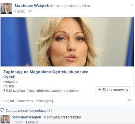 """Poseł SLD: """"Zagłosuję na Ogórek jak pokaże cycki"""""""