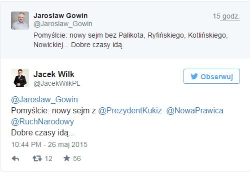 jaroslaw gowin jacek wilk