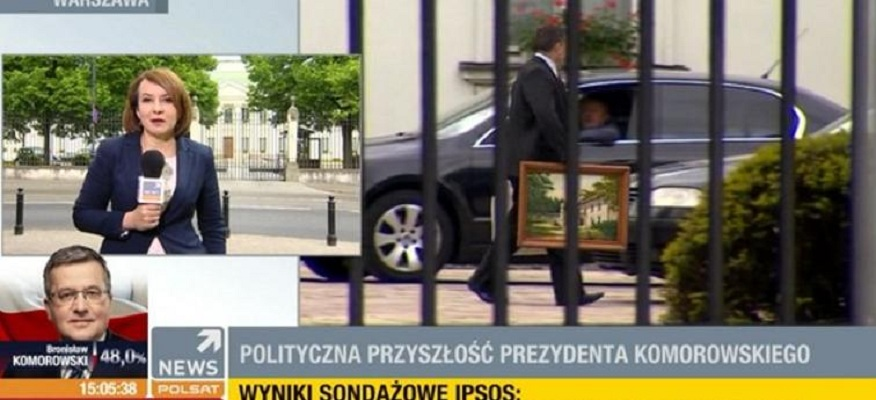 Komorowski już się wyprowadza z Belwederu. Zabiera ze sobą obrazy