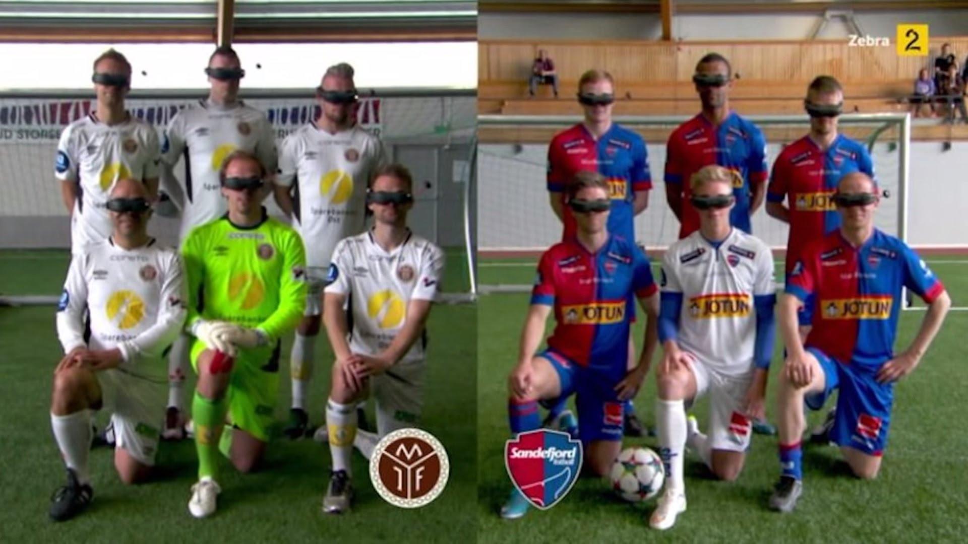 Komiczny mecz piłkarski hitem internetu (video)