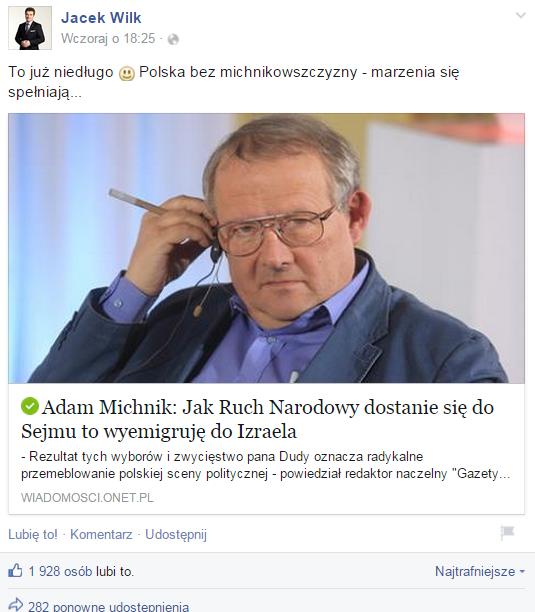 """Trolle oszukały tysiące osób. """"Michnik emigruje"""", """"Duda użyje czołgów"""""""