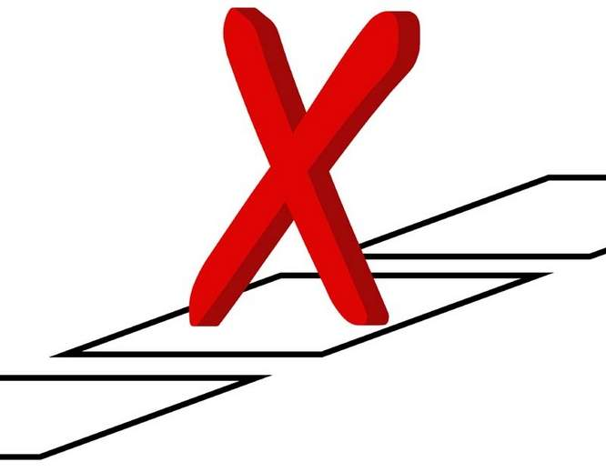 """Zamiast """"X"""" na karcie narysował obsceniczny symbol. Głos uznano za ważny"""