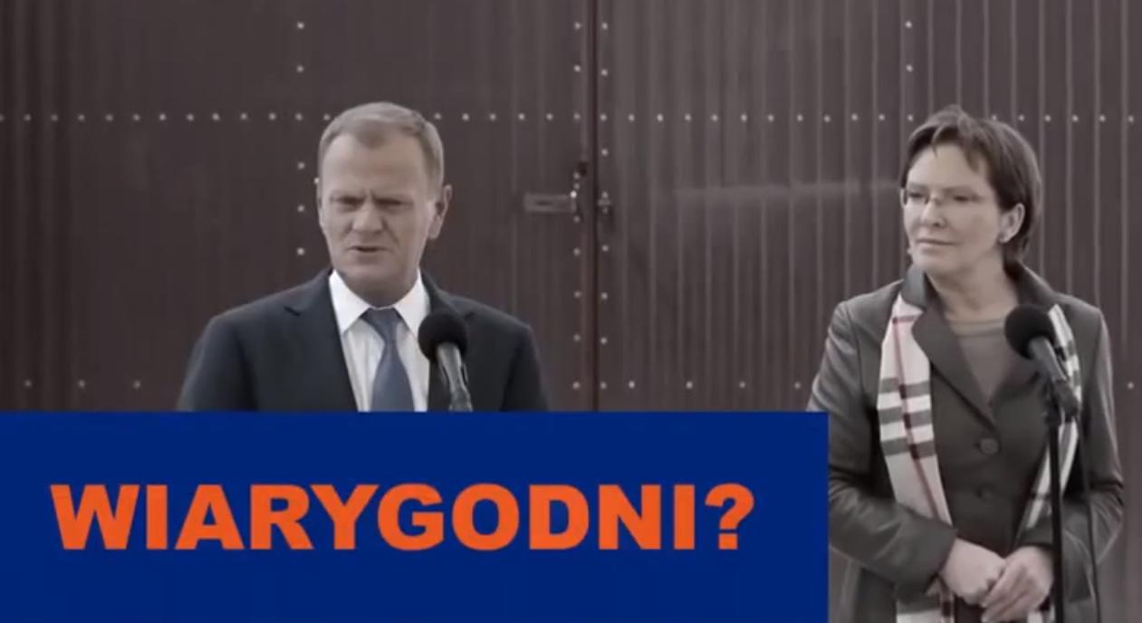 """""""Wiarygodność"""" - nowy spot PiS uderza w PO (video)"""