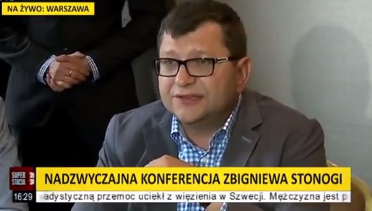 Superstacja i Polsat News przerywają transmisję, gdy Stonoga mówi o Millerze i Kwaśniewskim
