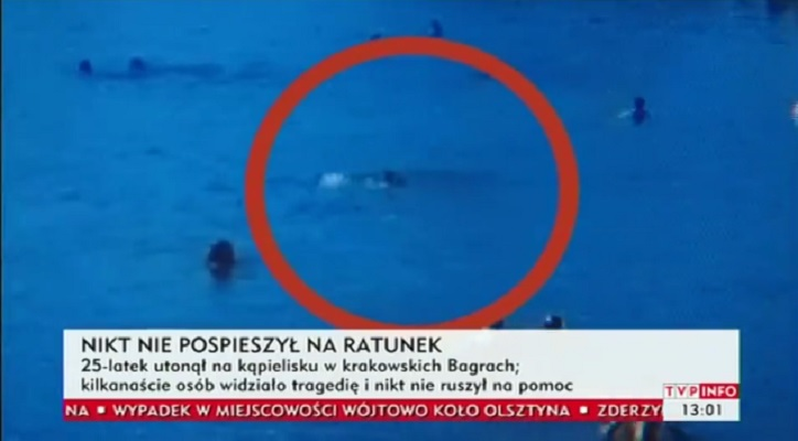 Video: 25-latek się utopił a wokół pełno ludzi. Szokująca znieczulica