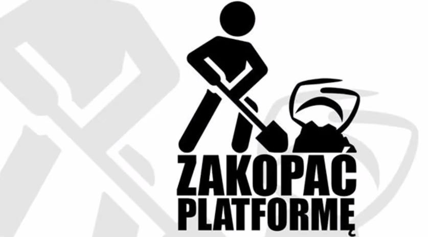 """""""Zakopać Platformę"""" - protest antysystemowców w Warszawie"""