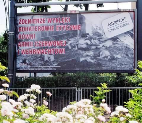 """Kontrowersyjny billboard: """"Żołnierze Wyklęci równi Armii Czerwonej i Wehrmachtowi"""""""