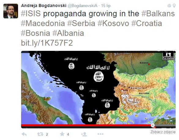 ISIS grozi Bałkanom