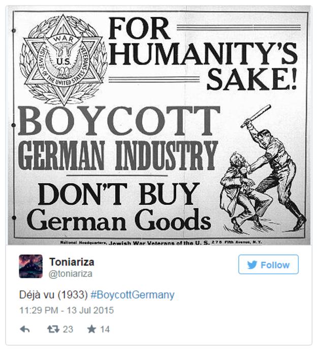 Lewica nawołuje do bojkotu Niemiec. Wraca temat nazizmu
