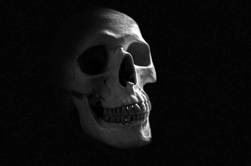 """""""Być albo nie być ? """" Czy ta czaszka się kiedyś uśmiechnie ?"""
