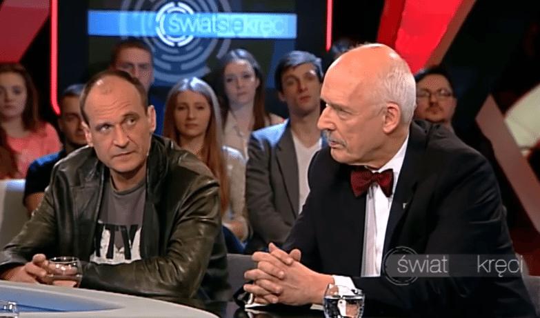 """Narasta konflikt na linii Kukiz-Korwin, """"Kukiz bredzi"""", """"Korwin zdradzi Polskę""""."""