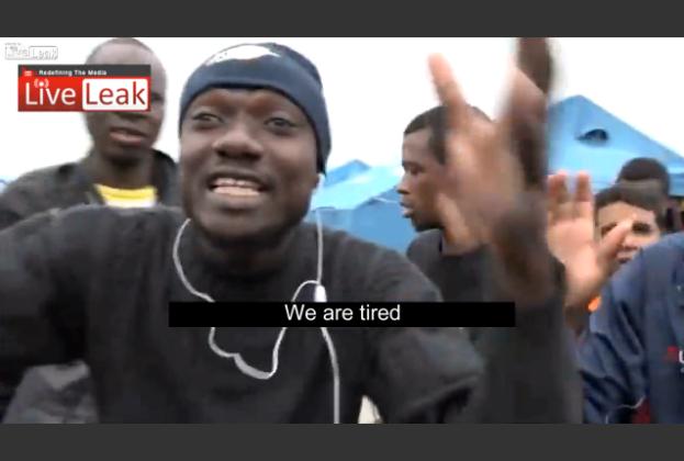 Imigrantom nie podobają się namioty jakie otrzymali (video)