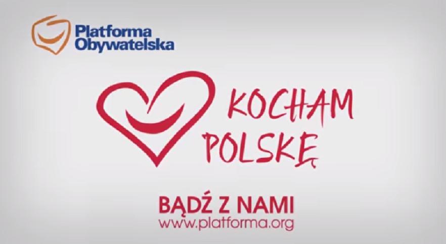 """PO """"splagiatowała"""" akcję narodowców """"Kocham Polskę"""""""