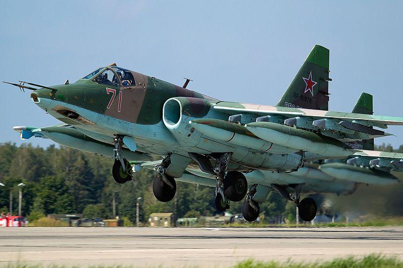 Rosyjskie szturmowce Su-25 w Syrii