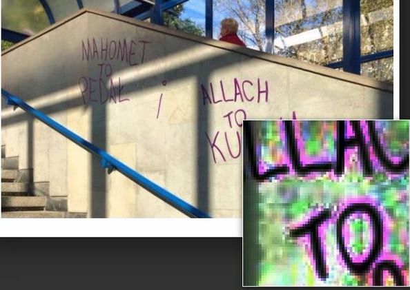 "Słynny napis z akcji ""Hejt Stop"" na murze zrobił grafik?!"
