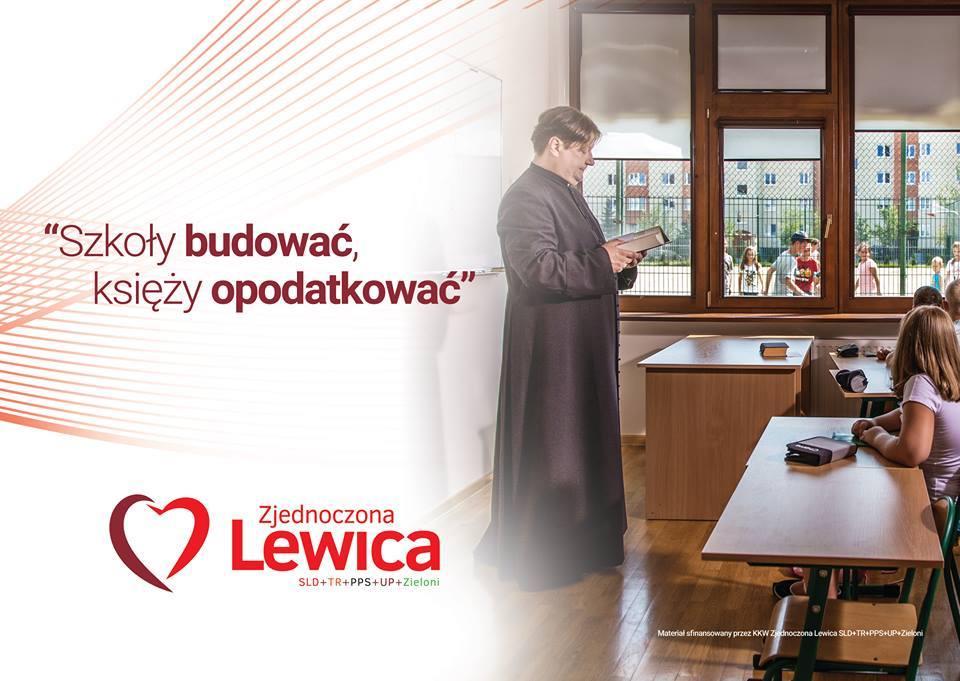 Zjednoczona Lewica rusza z kampanią na rzecz szkoły bez religii