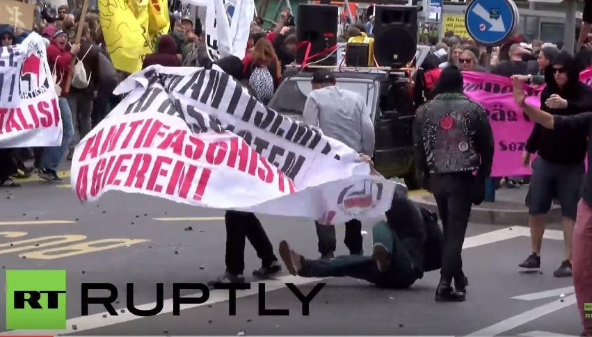 Szwajcaria: Policja strzela gumowymi kulami do zwolenników przyjęcia uchodźców (video)