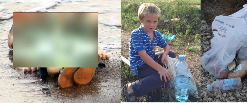 Kolejne zdjęcie chłopca obiega świat. Tym razem węgierskiego zbierającego jedzenie