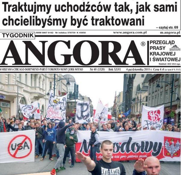 Szokująca okładka z marszu antyimiganckiego Angory to niestety nie fotomontaż