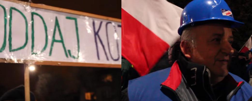Manifestacja pod domem Kaczyńskiego vs Protest. MOCNE! (video)