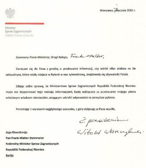 waszczykowski list
