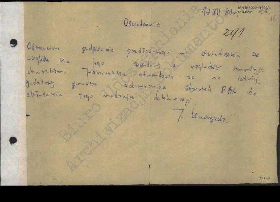 kaczyński oświadzcenie