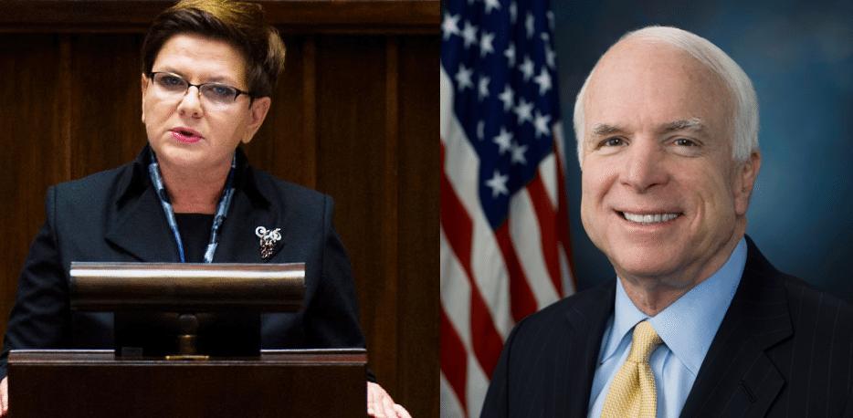 McCain i ważni senatorowie z USA do Szydło: To erozja demokracji