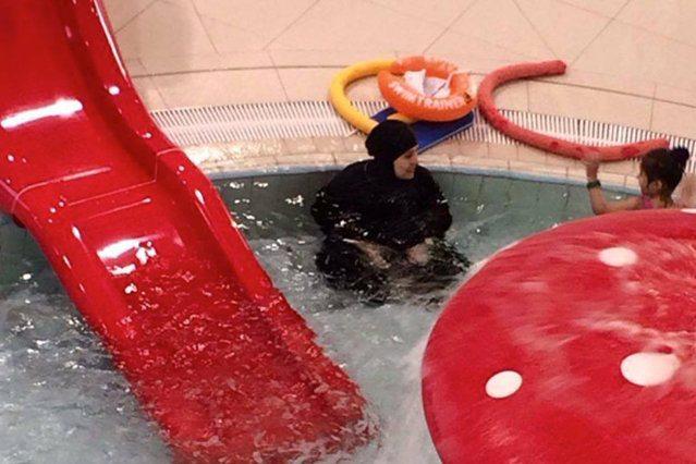 Koszalin: Kobieta w muzułmańskim bikini na basenie. Internauci w szoku