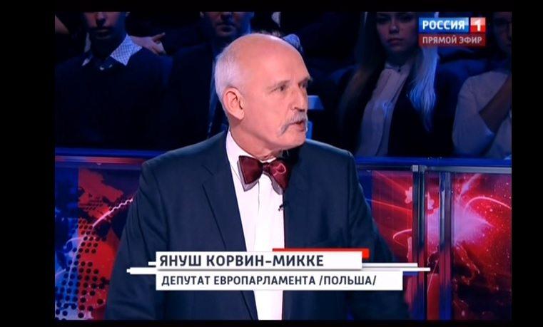 Korwin-Mikke wyśmiany w rosyjskiej TV: Związek Sowiecki zabił więcej Rosjan niż Niemcy (video)
