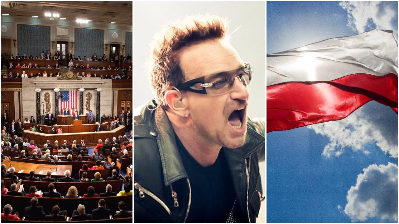 """Lider U2 krytykuje Polskę w Kongresie. """"Hipernacjonalizm, musimy stawić mu czoła"""""""