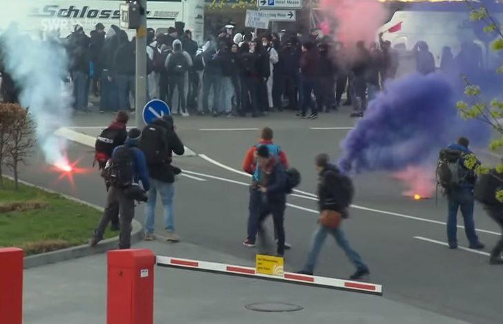 Niemcy: Zamieszki i protesty przeciwko prawicy. 400 osób aresztowanych (video)