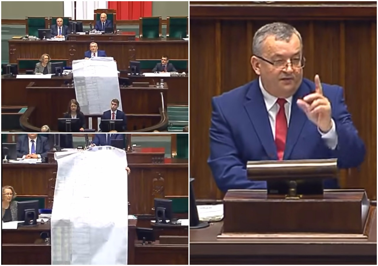 Sejm: Kilkumetrowa lista roszczeń wobec rządów PO-PSL (video)
