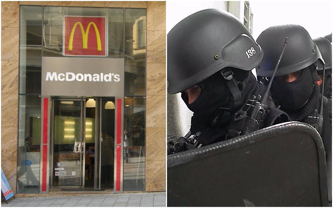 Napadli z bronią w ręku na McDonalda. W środku antyterroryści jedli frytki