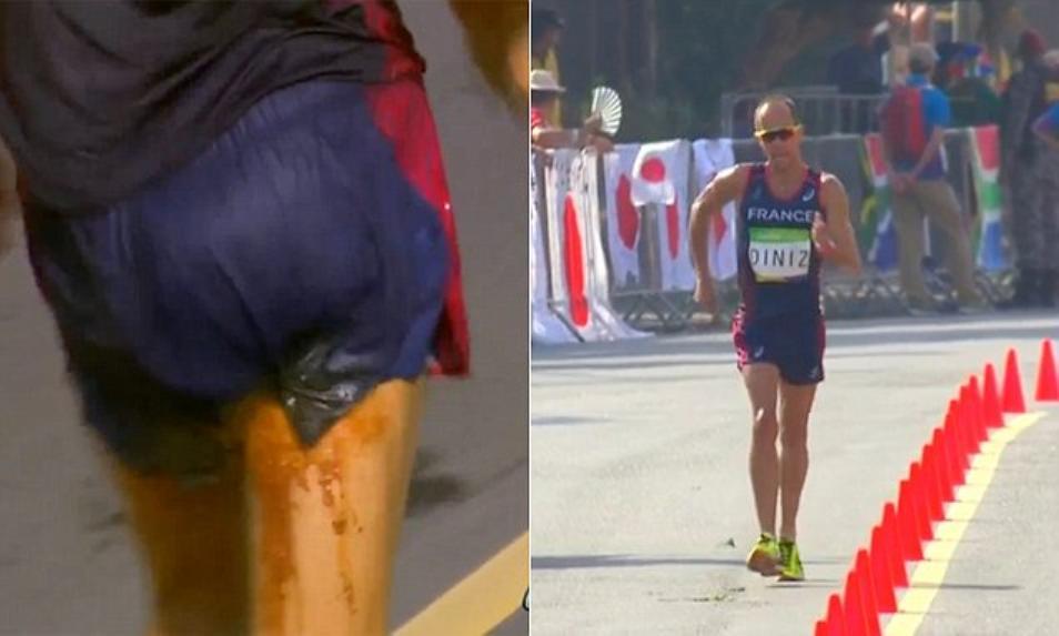 Rio'16: Francuski chodziarz pokonany przez biegunkę. Załatwił potrzebę idąc (video)