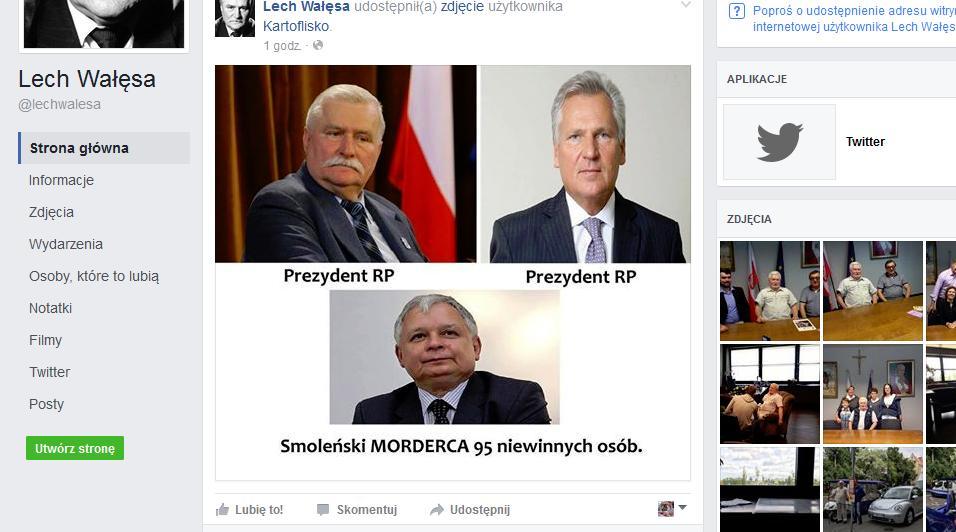 źródło: facebook.com/lechwalesa via rp.pl