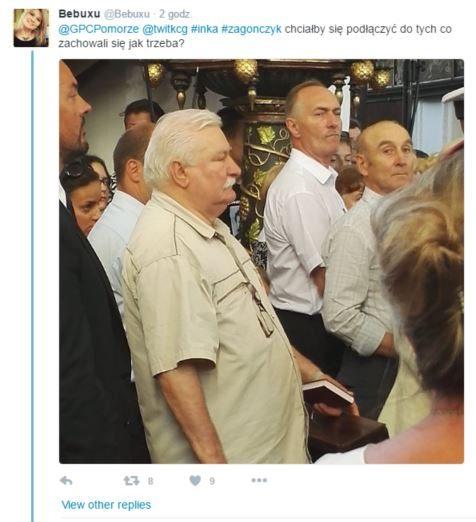 Wałęsa tłumaczy swój strój na pogrzebie Inki. Zdradza czemu wyszedł z kościoła