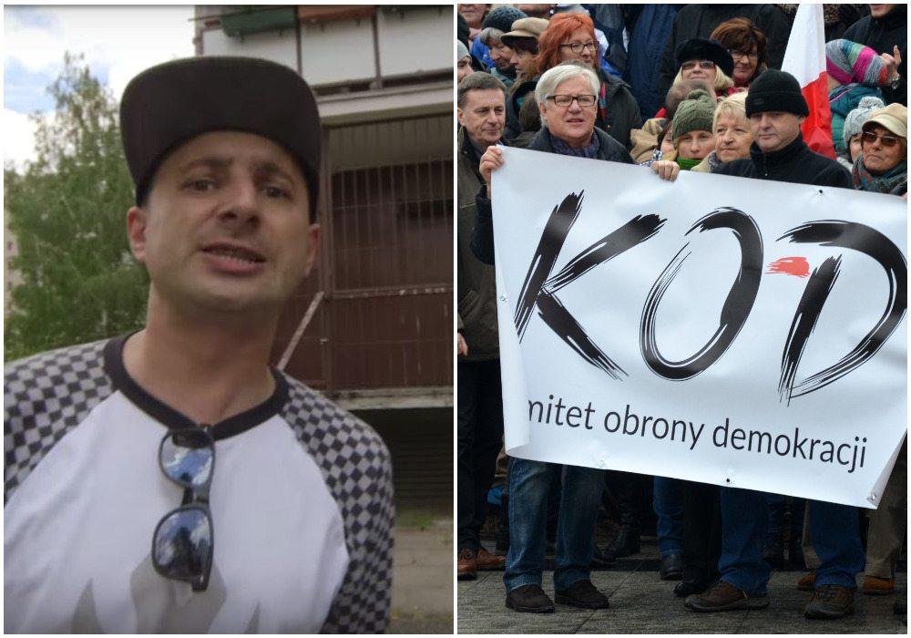 """Znany raper nie cierpi KOD-u. Pokłócił się z członkami: """"Wy obrońcy koryta"""" (VIDEO)"""