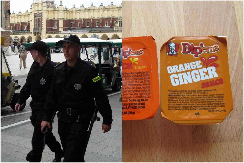 To jakieś kpiny? Policjanci dostają takie sumy na obiad, że mogą kupić jedynie sos w KFC