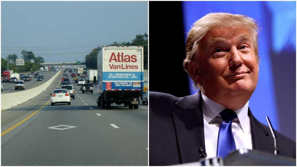 USA: Dostał mandat, bo jechał z tekturową głową Donalda Trumpa