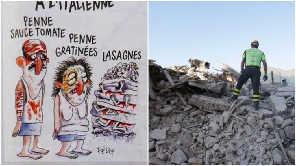 Charlie Hebdo znów szokuje. Magazyn naśmiewa się z ofiar trzęsienia ziemi we Włoszech