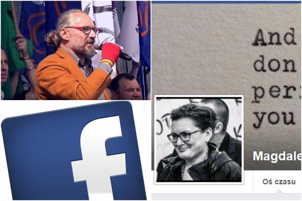 """Kijowski nie może uwierzyć: """"Facebook zablokował moją żonę, Błaszczak tego chciał"""""""