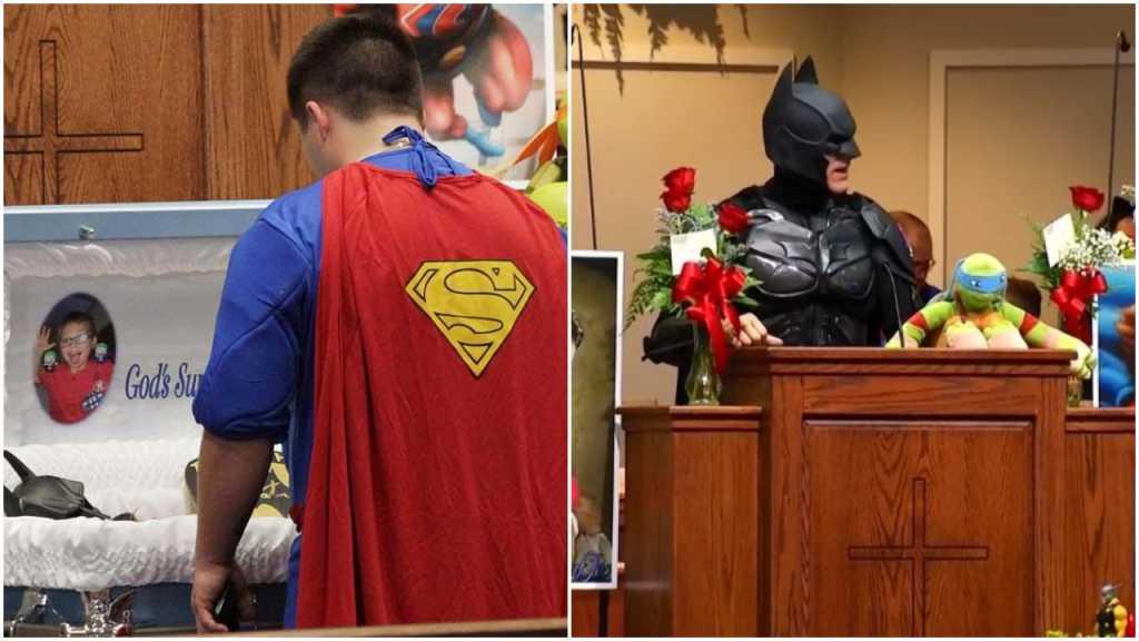 Nietypowy pogrzeb 6-latka. Rodzina i przyjaciele żegnali chłopca w strojach superbohaterów