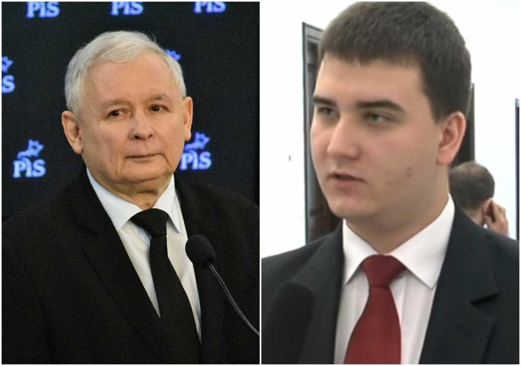 Kaczyński broni Misiewicza: Biedny, młody człowiek