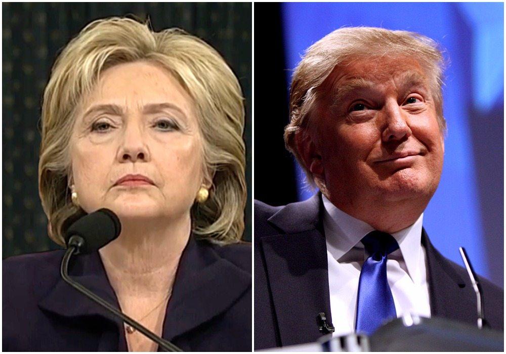 """W debacie niekoniecznie, ale na lotnisku Trump """"zmiażdżył"""" Clinton (FOTO)"""