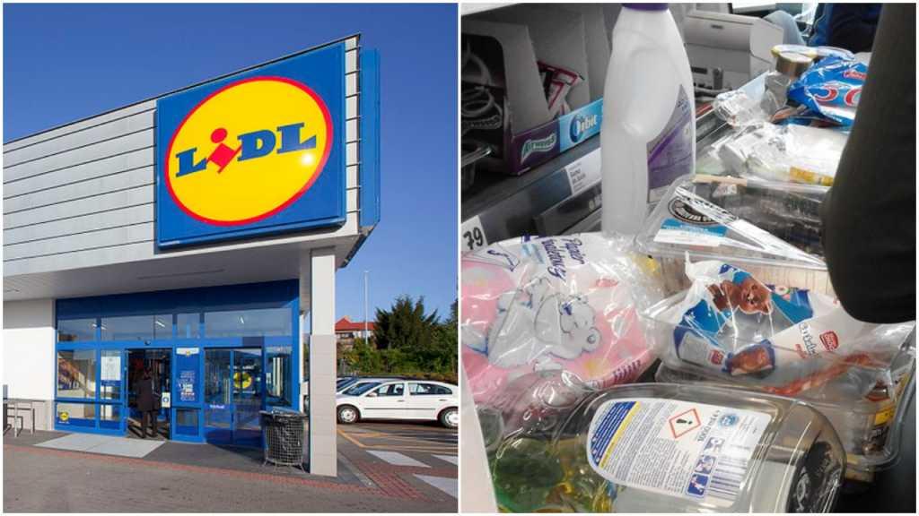 Klienci wyrzucają śmieci na lady w markecie... a Lidl im za to płaci